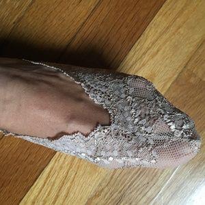 NWOT embroidered Italian shoeliners